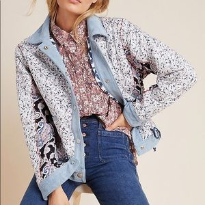NWT Anthropologie Blank NYC Floral Patch Jacket